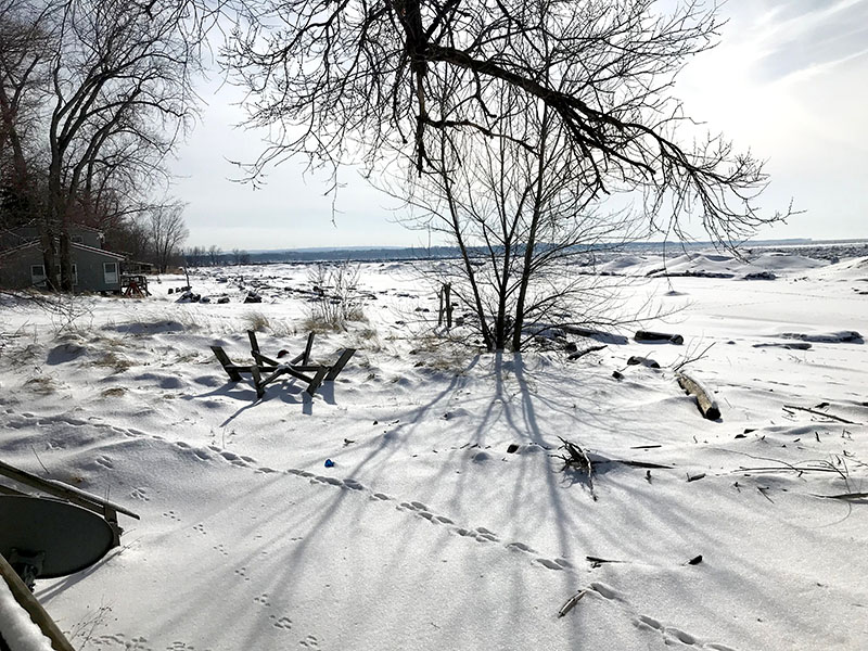 The beauty of Lake Erie in winter.