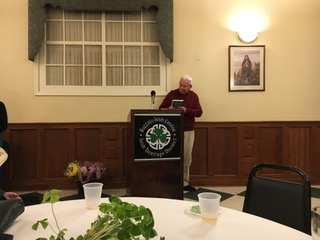 """Fr. Fred Leising offers a blessing at the book launch for """"The Nun and The Priest: Love, Celibacy and Passion."""""""