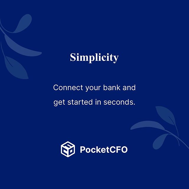 We keep things simple. #pocketcfo #pocketinsights . Why spend hours on bookkeeping just to know how long your runway is? PocketCFO is an app that gives founders real-time cash flow and runway visibility without any manual data input. . Join our beta user waitlist at PocketCFOapp.com