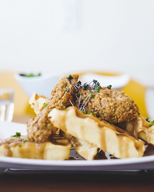 "If you are in the Inglewood/Ramsay area during YYCVW 2019 make sure you check out @thedandelioncafe_ for their entry of 'Chick-Tan' and Waffles topped with southern style gravy and drizzled with maple syrup, green onions and micro herb. Then head to @madisons1212 to try their vegan Mac N' Cheese nachos (yes.. you read that right 🤤😅) with creamy vegan cashew ""cheese"" sauce, al dente elbow macaroni, @beyondmeat sausage crumble topped with Madison's 1212 house made ketchup and spring onion on a bed of corn chips. WOW!! 🥞🌱🍴🧀🤗💓 #yycveganweek #yycgoesvegan . . . . . . . #yyc #yycliving #yycevents #yycfoodie #vegan #vegansofig #vegansofinstagram #vegansofcanada #govegan #veganfood #veganfoodshare #veganlifestyle #veganliving #bestofvegan #vegancommunity"