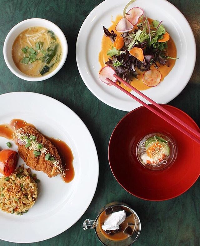 "Don't forget to head to @heartschoices before YYCVW 2019 is over on Saturday May 25! They are featuring their Teishoku Satsuki (May) set menu with garlic ""butter"" fried rice, Panko breaded chick-un katsu, roasted tomato, sunomono salad, country style miso coup, heritage greens with tomato ginger dressing and coffee jelly with coconut whip. Through their generosity they are also donating an additional $1 of each dish sold to local animal sanctuaries! We love you Hearts Choices and so does the entire vegan community of Calgary!! 🍛🍴🌱💓🍱🐾 #yycveganweek #yycgoesvegan . . . . . . . #yyc #yycliving #yycevents #yycfoodie #vegan #vegansofig #vegansofinstagram #vegansofcanada #govegan #veganfood #veganfoodshare #veganlifestyle #veganliving #bestofvegan #vegancommunity"