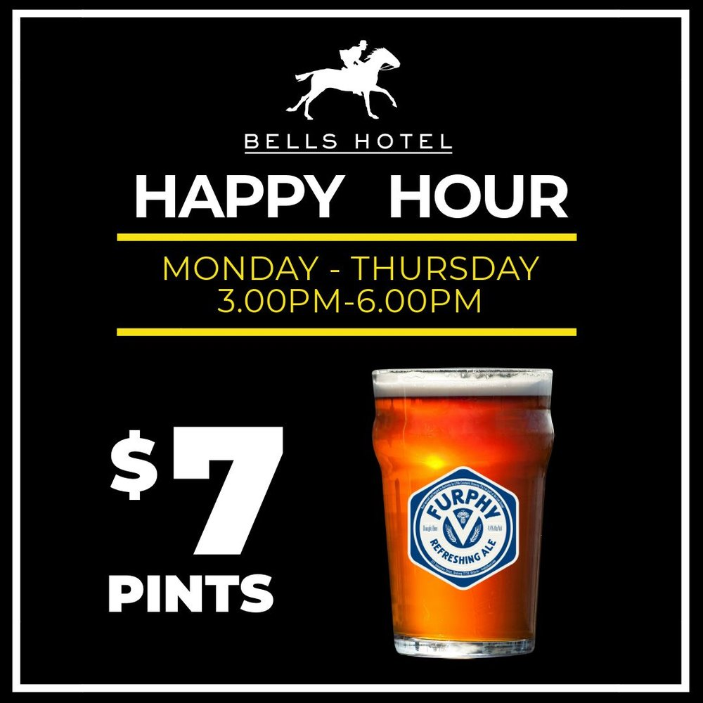 HAPPY HOUR - Drink up!