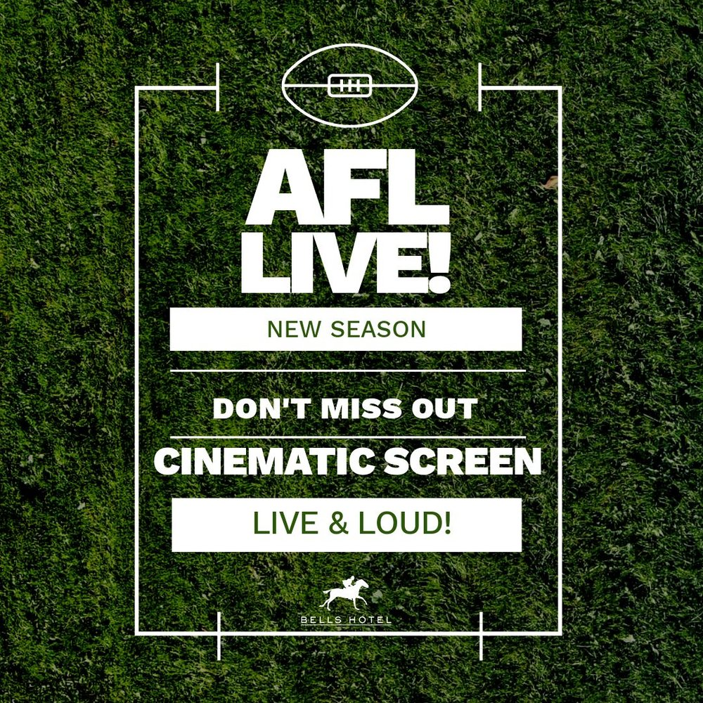 EVERY GAME LIVE - Come past and catch your team playing in full HD. Because there is simply nothing better than the footy.