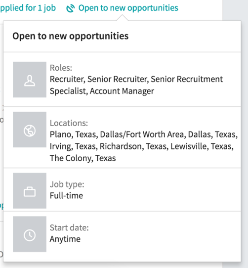 Open to New Opportunities Feature on LinkedIn
