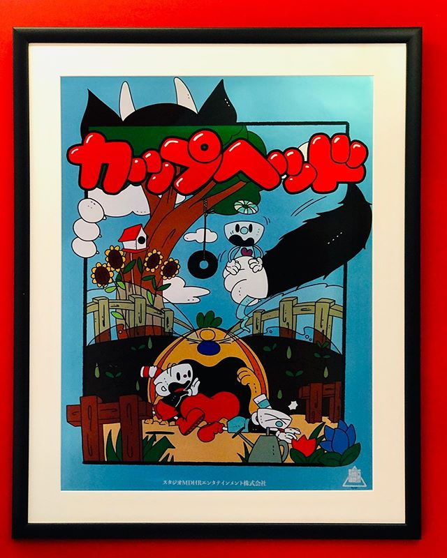 Do we have obsession? You bet we do! #cuphead #studioart #awesome #cartoon #wallart #studio #sounddesign