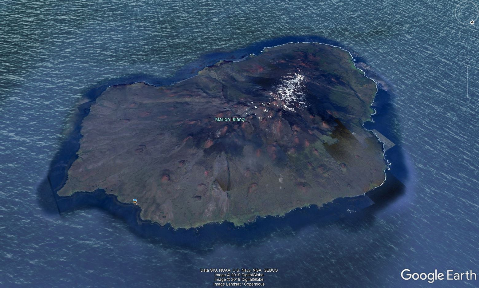 Marion Island- Google Earth