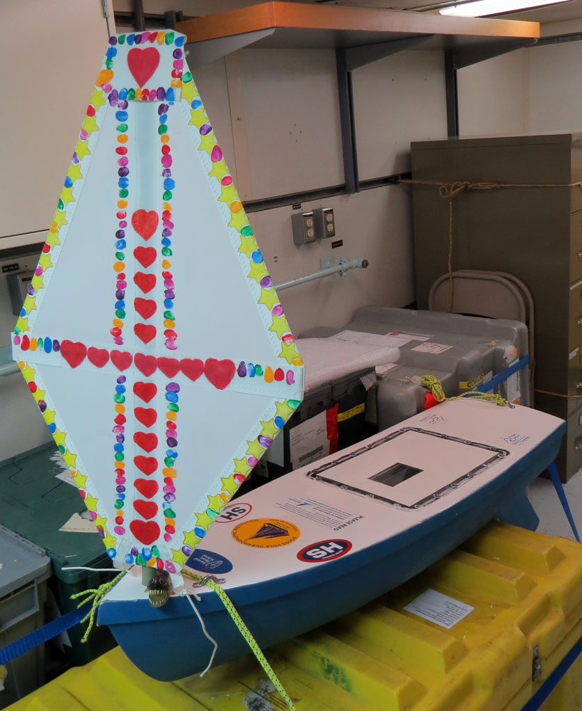 Sacred Heart Star of the Seas awaiting launch in the science lab of the R/V Thomas G Thompson