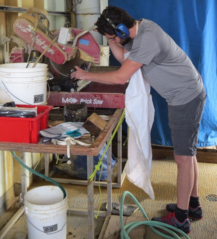 Dominic cutting peridotites