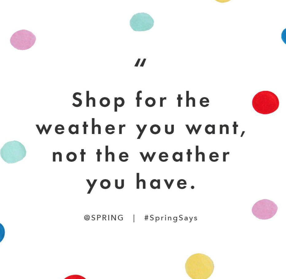 Custom Instagram Quote, Spring -