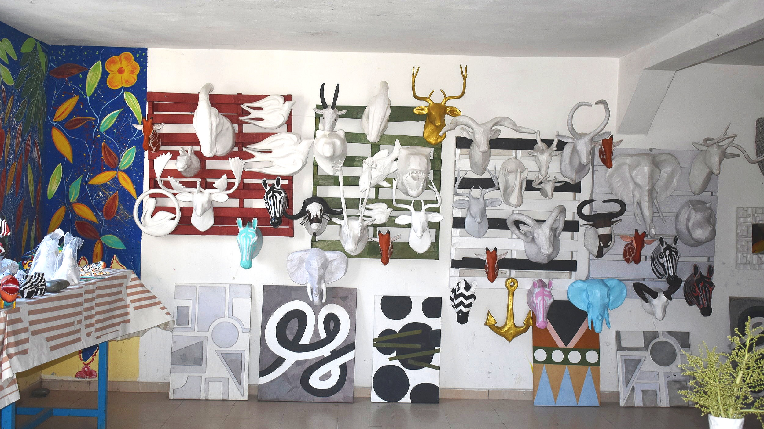 The paper mache room of Caribbean Craft