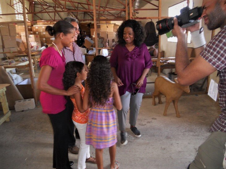 Oprah visited the production facility in December 2011 and showcased the artisans work in her OWN TV Network in January 2012