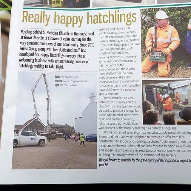 #varietyjersey were delighted to have been asked to supply the sensory equipment for the Sensory Room at the Happy Hatchlings Nursery. Great to see the nursery featured in the #stclement parish magazine. Watch this space to see the end result.