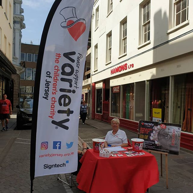 Grand Draw tickets on sale today in Brook Street, outside Hamons. Pop down and see us.  Signtech CI The Refinery Betley Whitehorne Image #varietyjersey