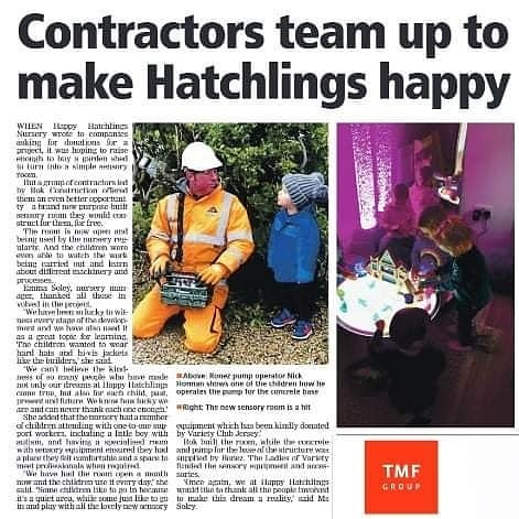 Today's Jersey Evening Post featuring the Ladies of Variety's sponsorship of new sensory equipment for the Happy Hatchlings Nursery. #varietyjersey #supportingourchildren