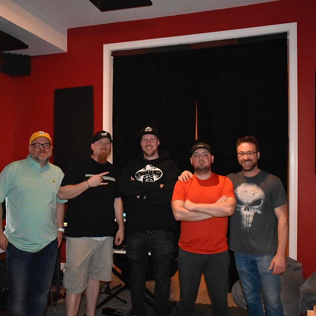 Magic happens when you get @shroom020 @kennybarto @bigunlimited in a room together at @molwenistudios #studiolife #beats #universalaudio