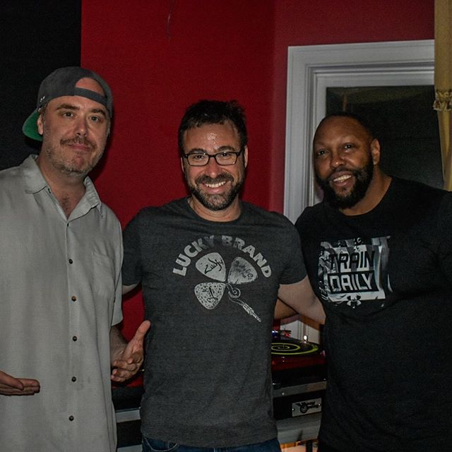 Amazing things happening @molwenistudios with these two legends! Honored! @djmagicmike01 @cutchemist