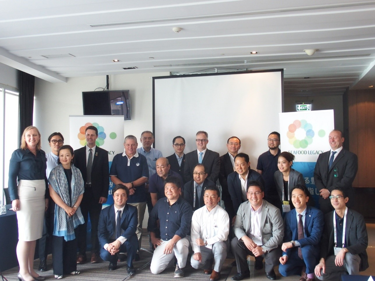 Group photo from the Seafood Legacy Japan Workshop