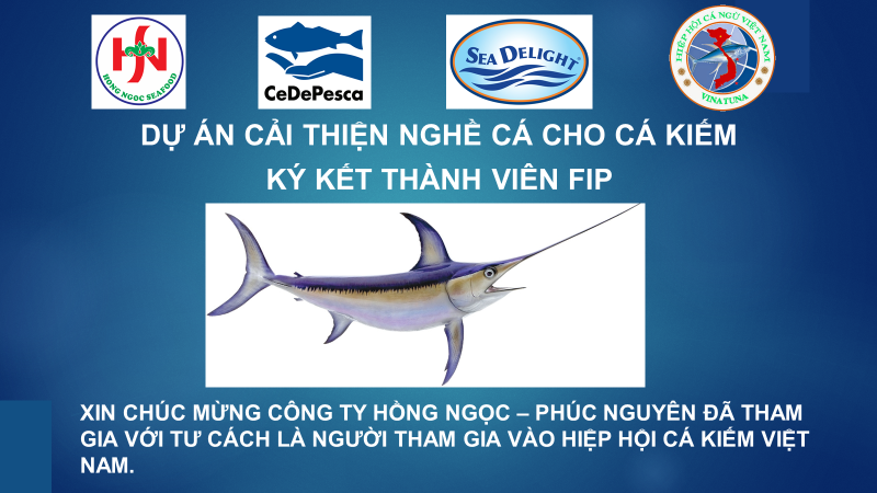 Opening page of the presentation on the FIP for the fishing community