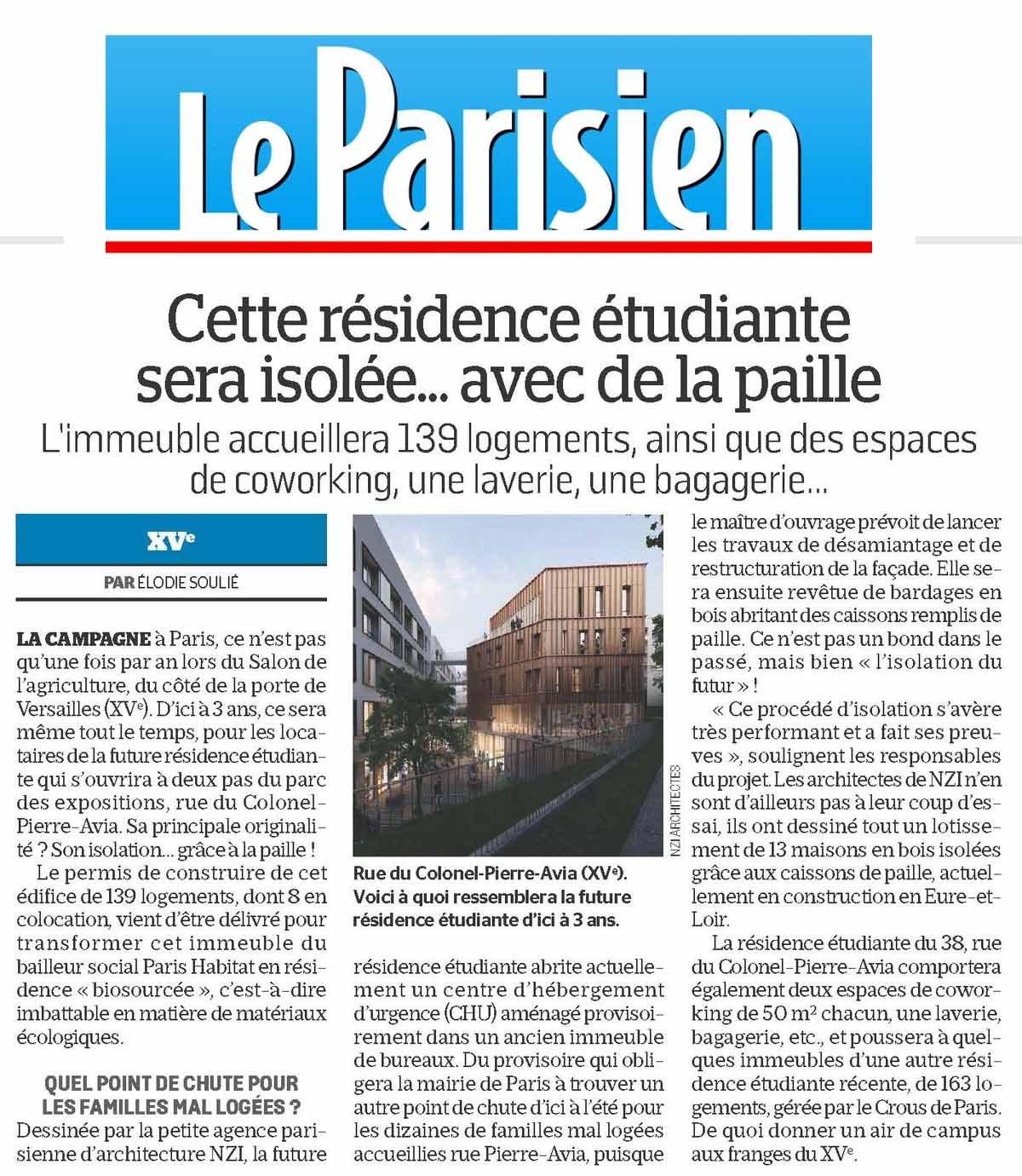 Le projet Avia dans le Parisien !