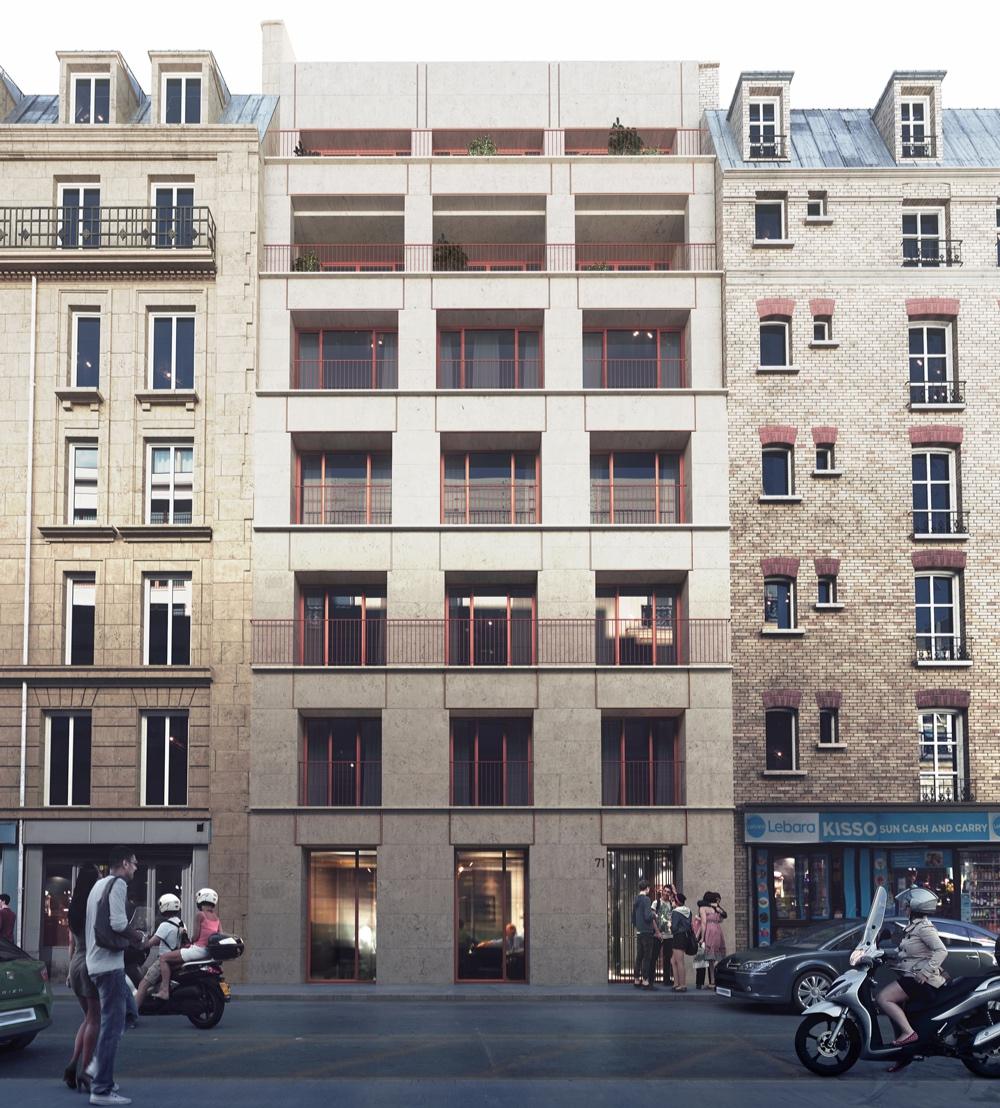 Concours Rue P. de Girard - Notre proposition pour le concours de 10 logements et un commerce à Paris pour la RIVP