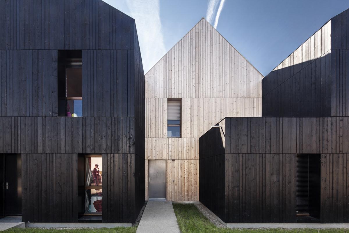 Livré !  13 maisons en bois isolation paille à Nogent-le-Rotrou - Mars 2019