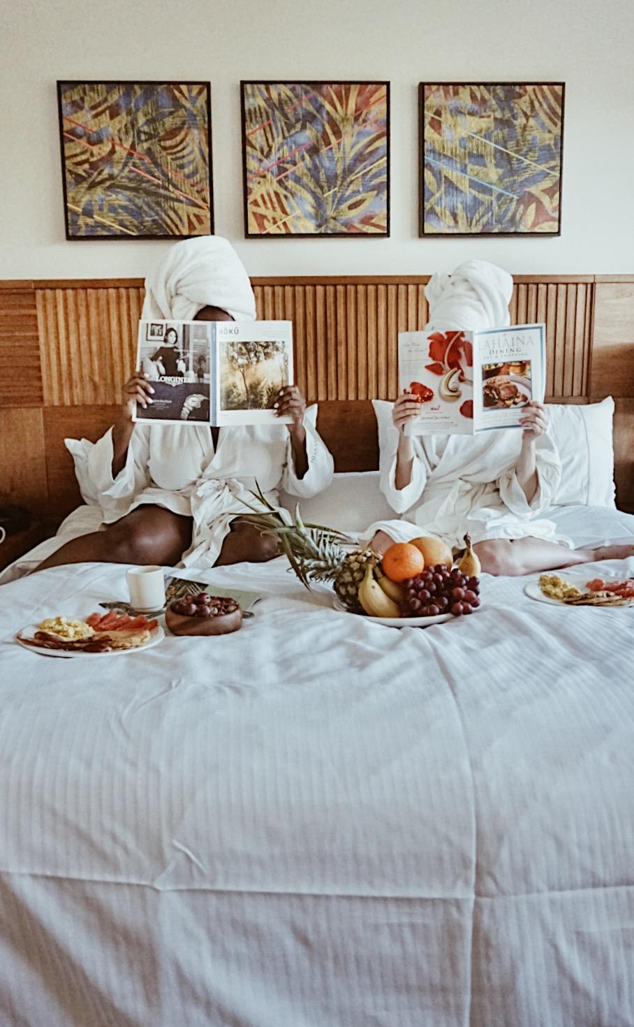 breakfast in bed Westin resort
