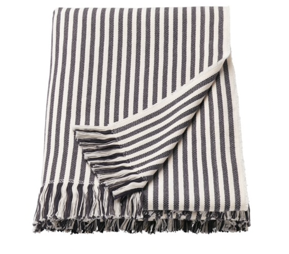 Ikea striped blanket throw