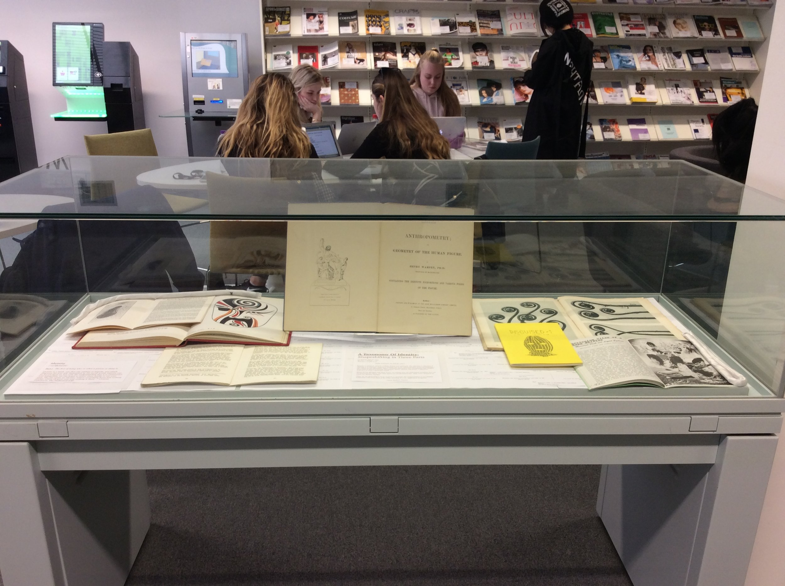 A Taxonomy Of Identity: Shapeshifting in Three Parts  , an exhibition of rare materials from London College of Fashion Library's Special Collections curated by Cyana Madsen (May - June 2018)