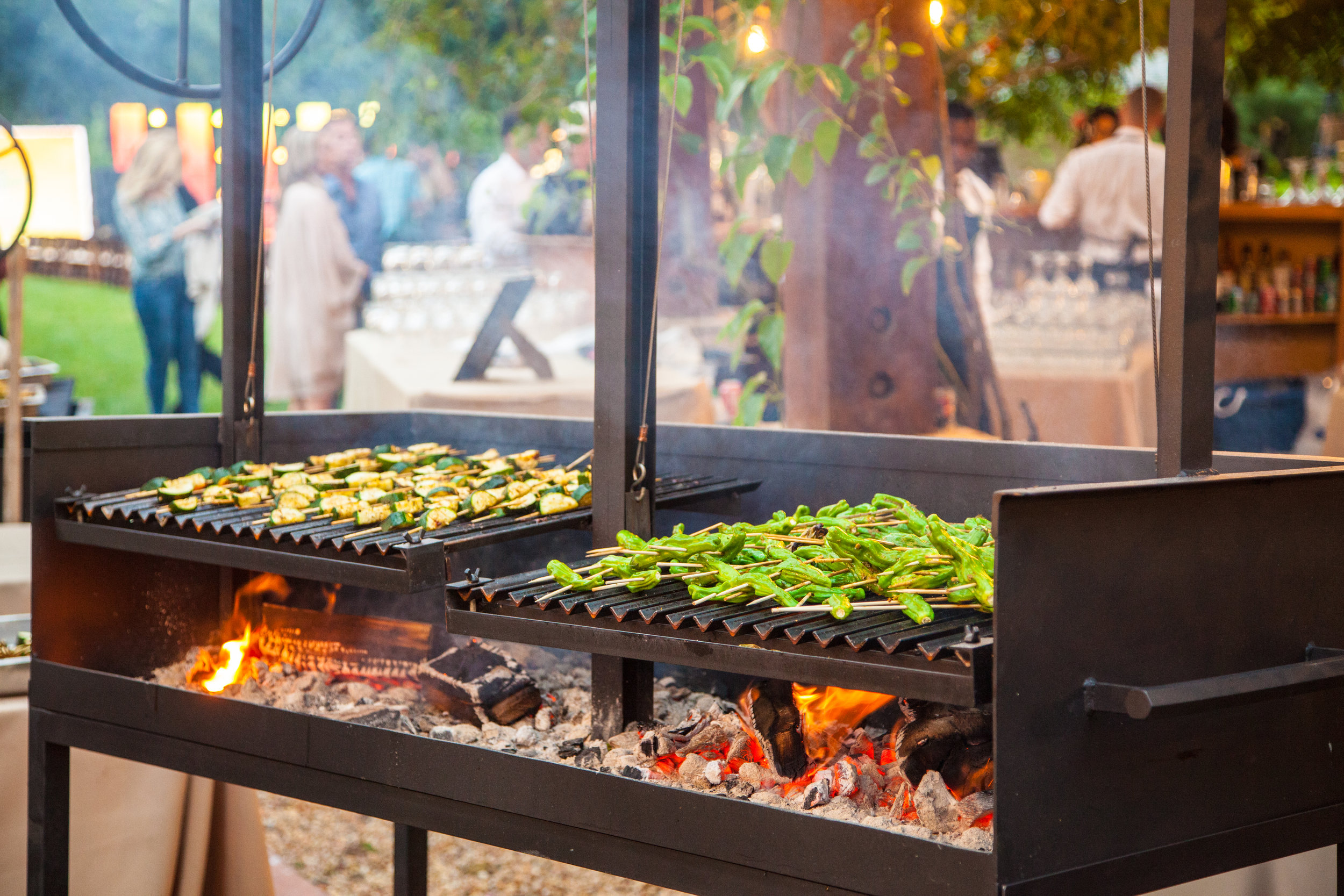only organic vegetables are served at our catered events