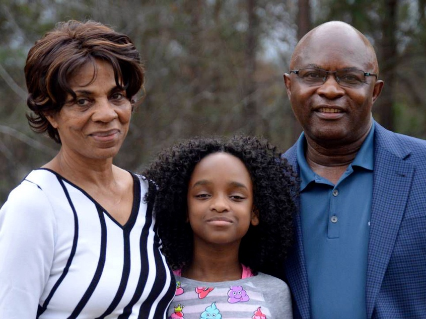 From left, Lola Campbell, adopted daughter Taylor-Ann and husband William Campbell   Gwinnett Daily Post: Loganville Couple Has Special Connection With Foster Children