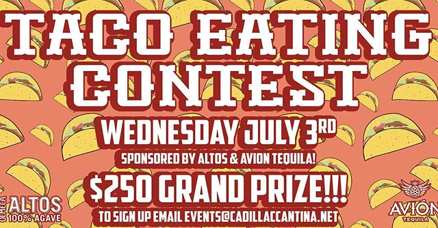 Sign up ends Friday at Midnight 🕛  #tacos #hoboken #tacoeatingcontest