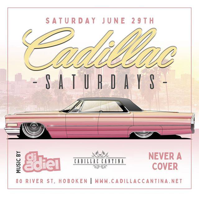 Amp up your weekend with CADILLAC SATURDAY! Grab your crew because DJ Adiel is bring the heat tonight 🔥🎧 . #letstacoboutit #cadillaccantina www.cadillaccantina.net . #drinkspecials #margaritas #mixology #taco #downtownhoboken #hobokeneats #tequilatequila #halfprice #fajitafriday #cadillacsaturdays #weekend #hoboken #djadiel #saturdaynight #nightlife #djnight #nocover