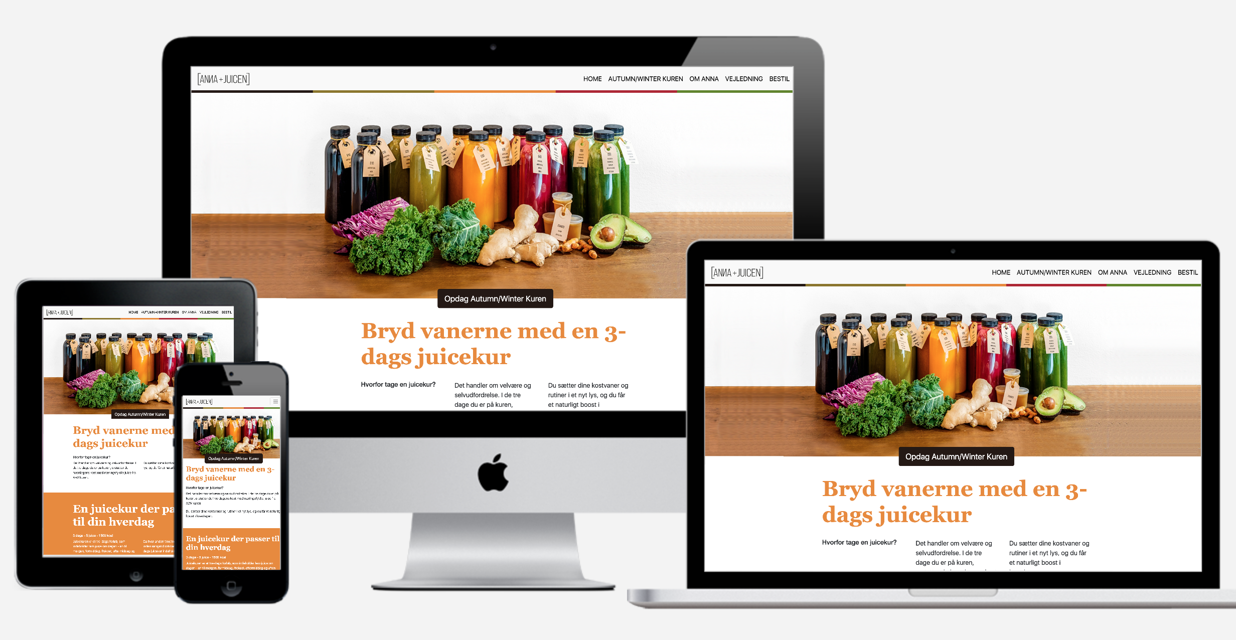 Anna+Juicen - A web concept for a growing juice business
