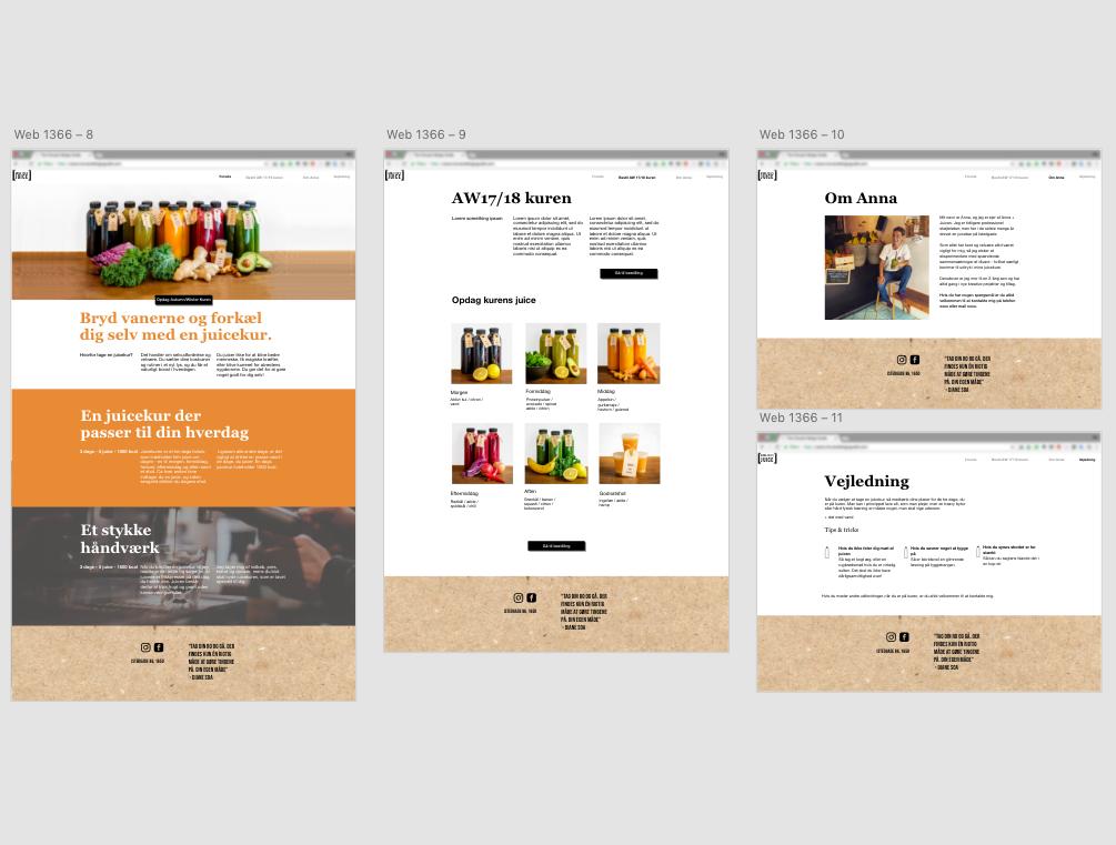 Interactive mockup prototype of desktop site