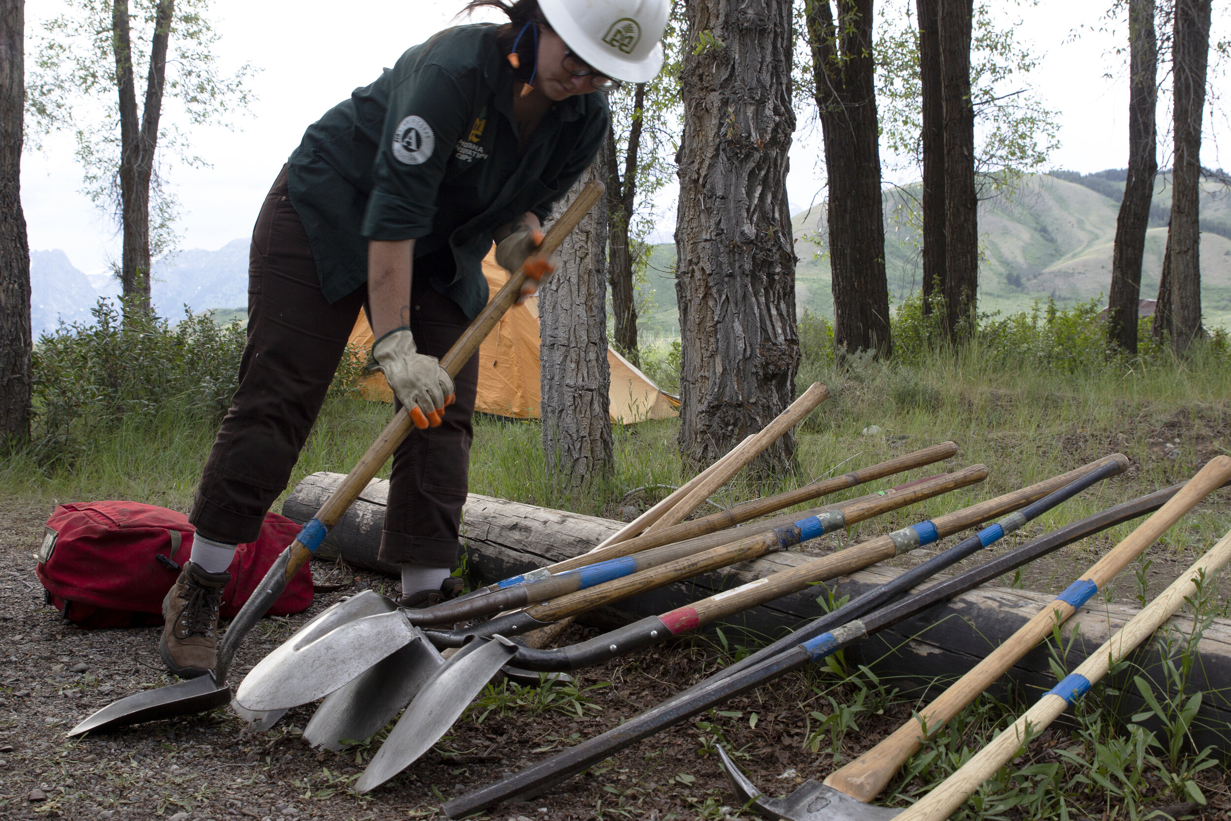 Youth Corp attendees work hard each day in the GTNP