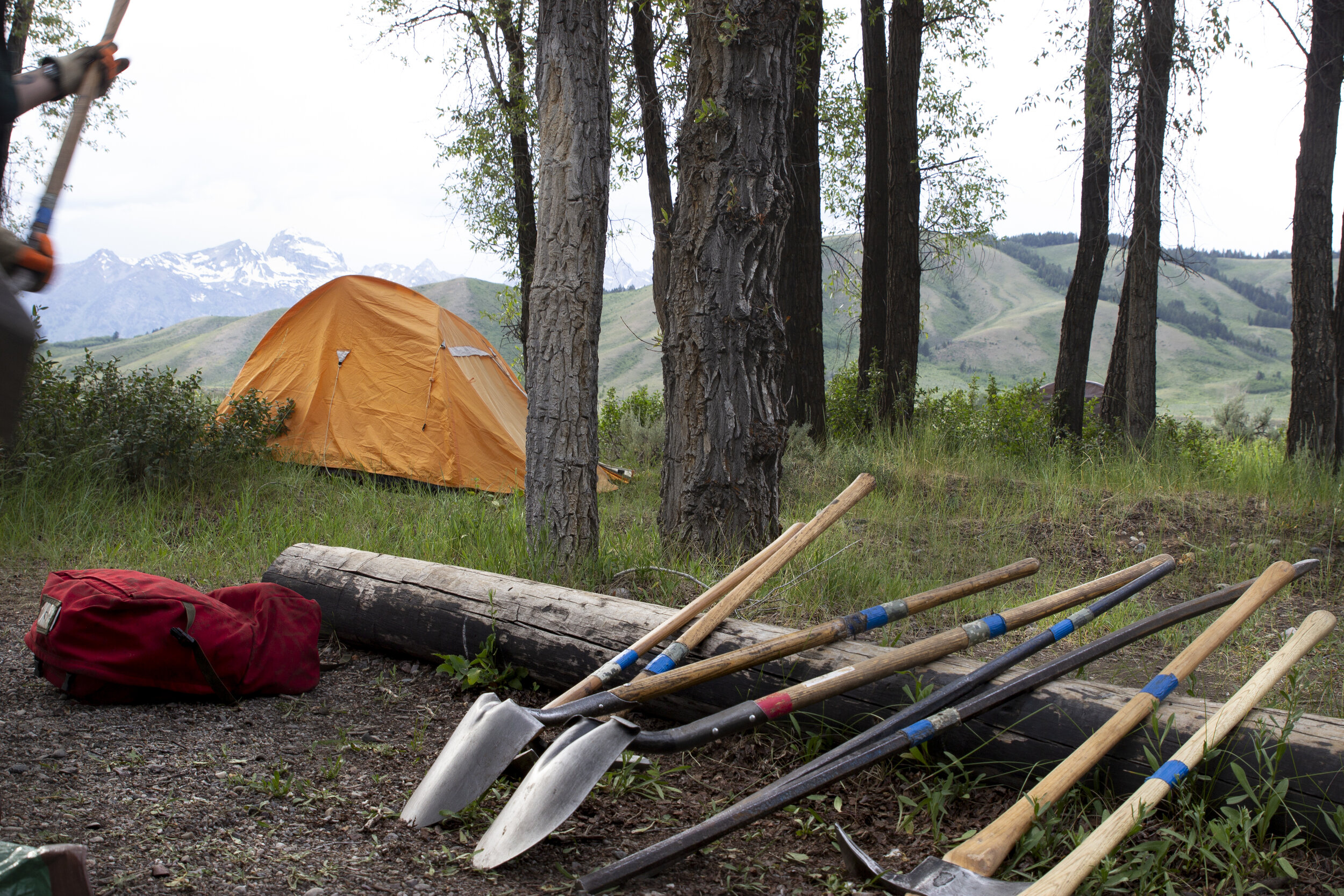 Attendees camp amidst the beauty of Grand Teton National Park