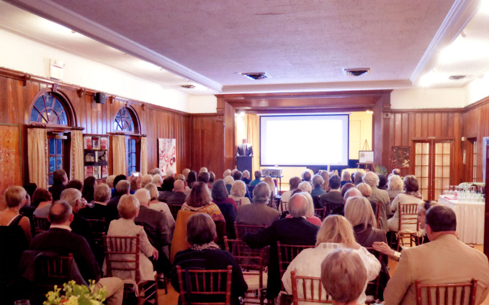 Michael addresses members and family of the Princeton Present Day Club; Princeton, NJ (November 2018)