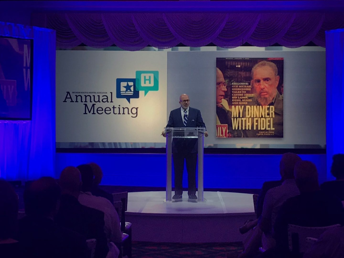 Michael speaking at Michigan Health and Hospital Association's Annual Meeting; Mackinac Island, MI (June 2018)