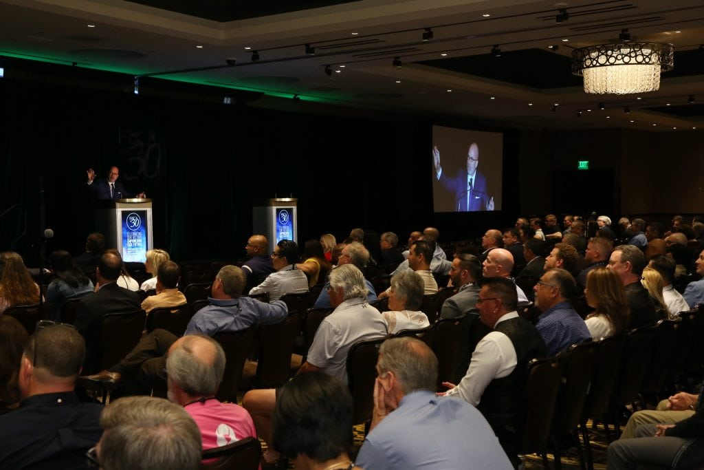 Michael delivering a keynote presentation at the Financial Service Centers of America's Annual Conference & Expo; Las Vegas, NV (October 2017)