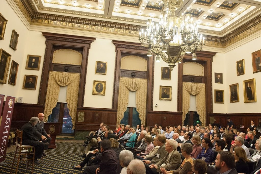 Michael speaking to Lehigh University alumni at Philadelphia City Hall; Philadelphia, PA (October 2016)