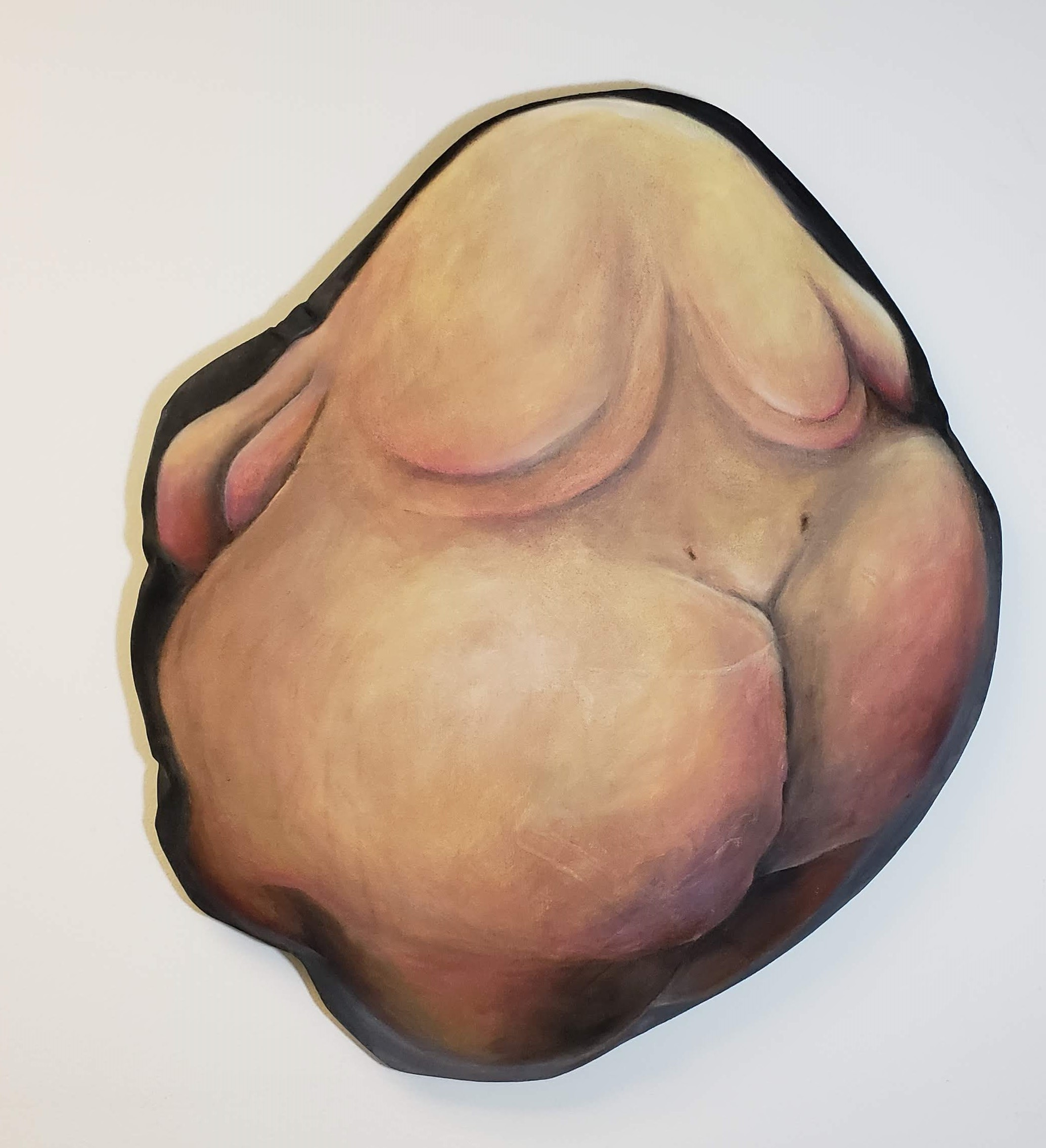 """Blubbly 1"" Oil on stuffed canvas, 24"" by 22"" - Currently for sale at Prove Collective, Duluth, MN"