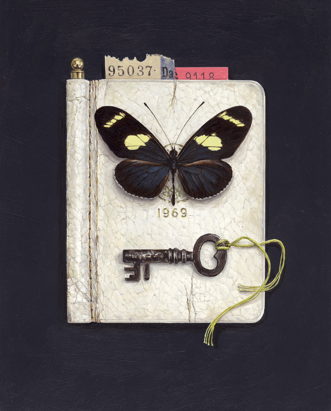 1969 diary with butterfly