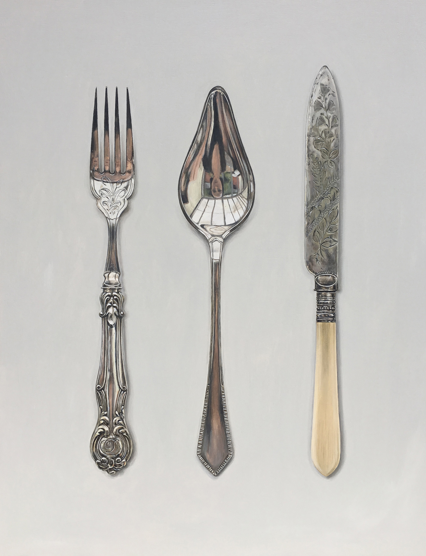 fork, spoon and cake knife