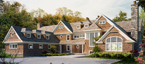 Country Shingle Style in back country setting