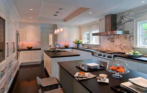 Dual Kitchen Islands