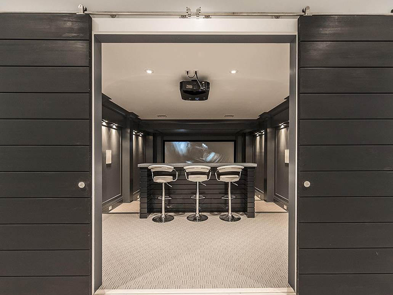 Custom Designed Movie Theater and Bar