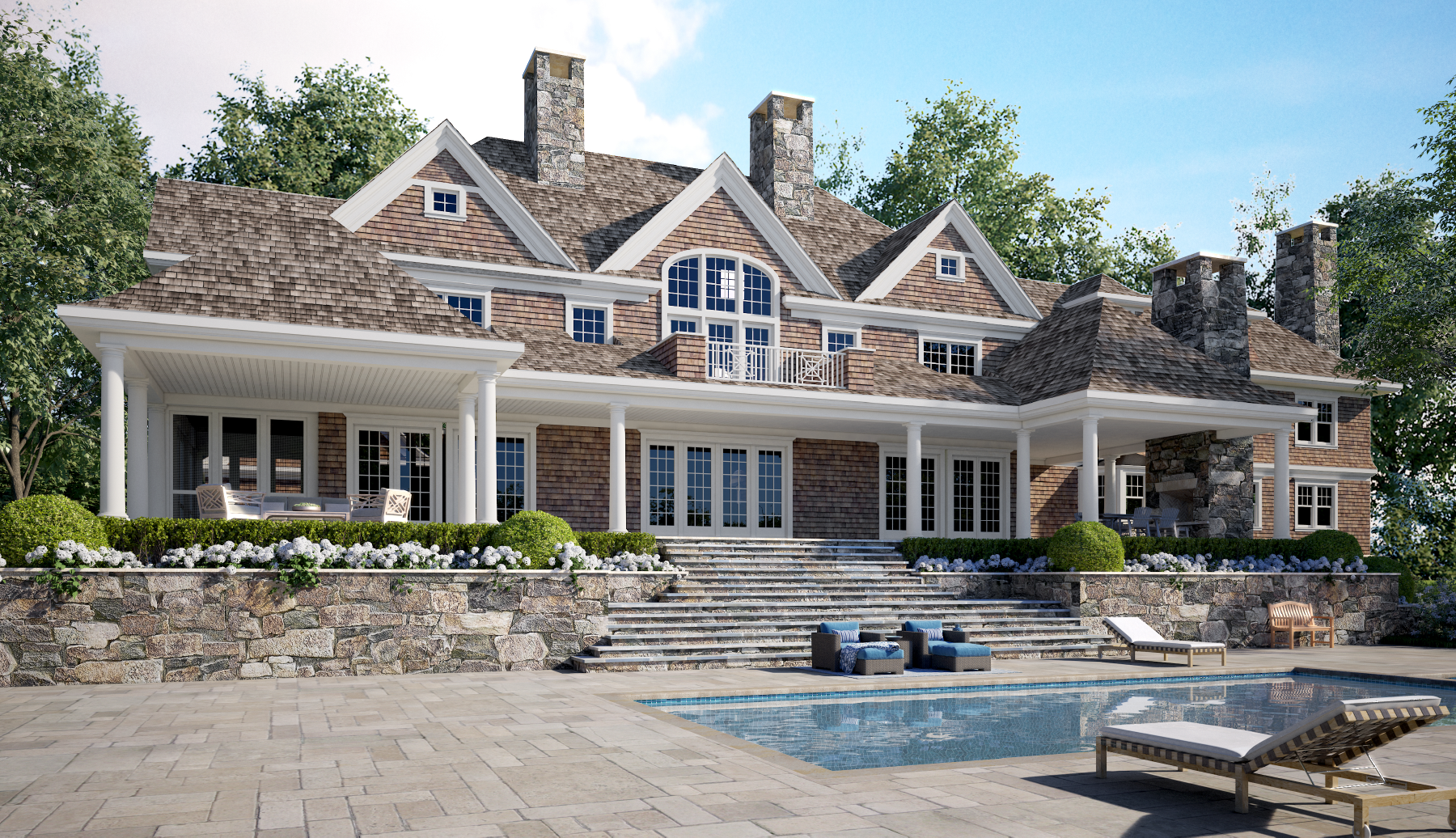 Large House Design with a Pool