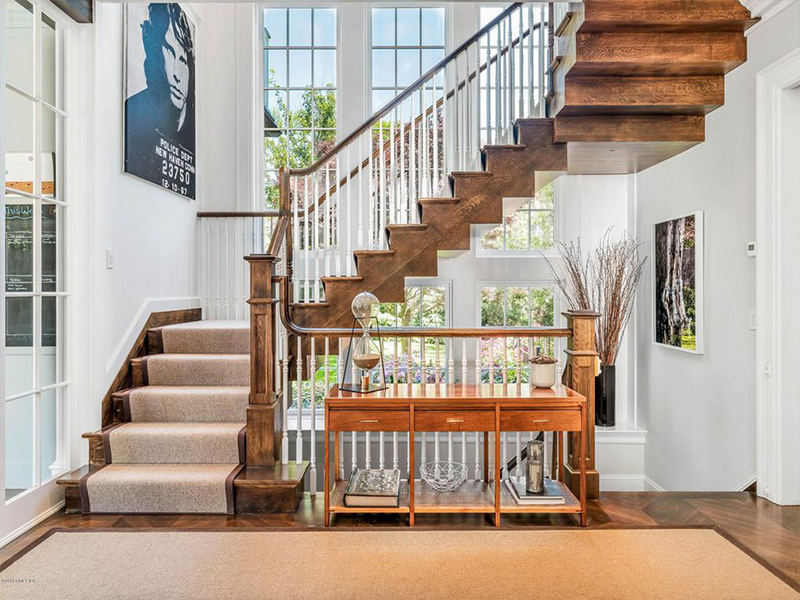 Staircase with Carpeting
