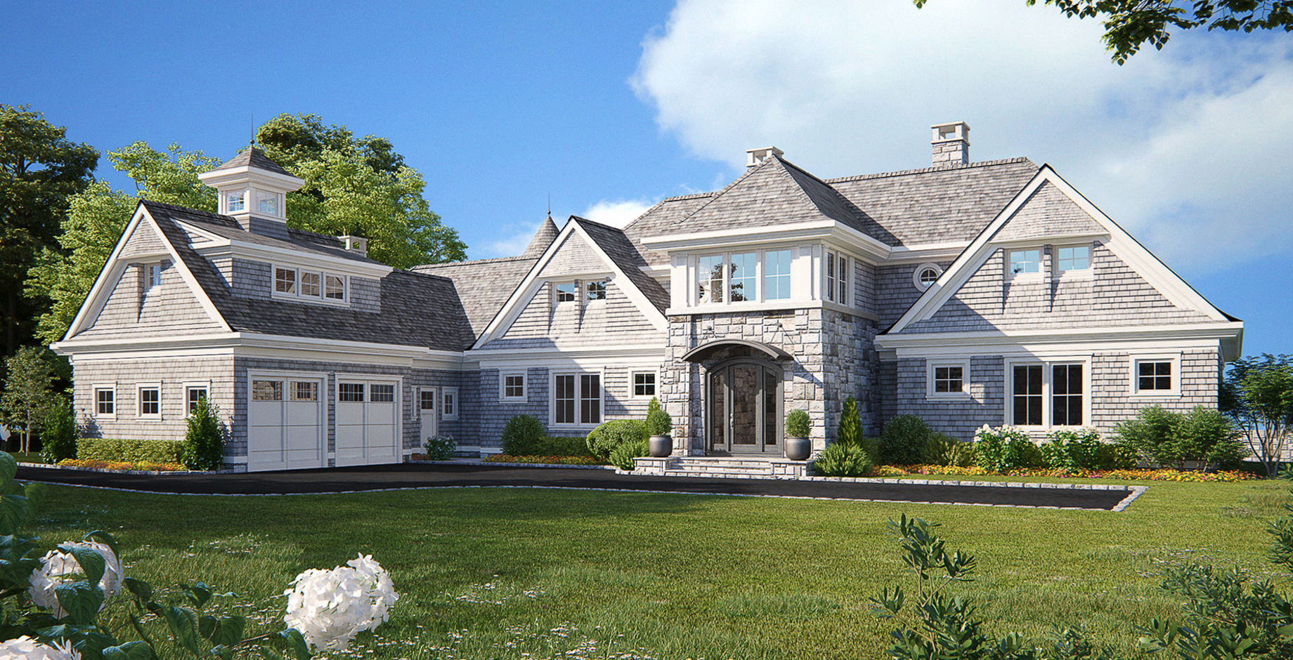 Coastal Shingle Style Home Front