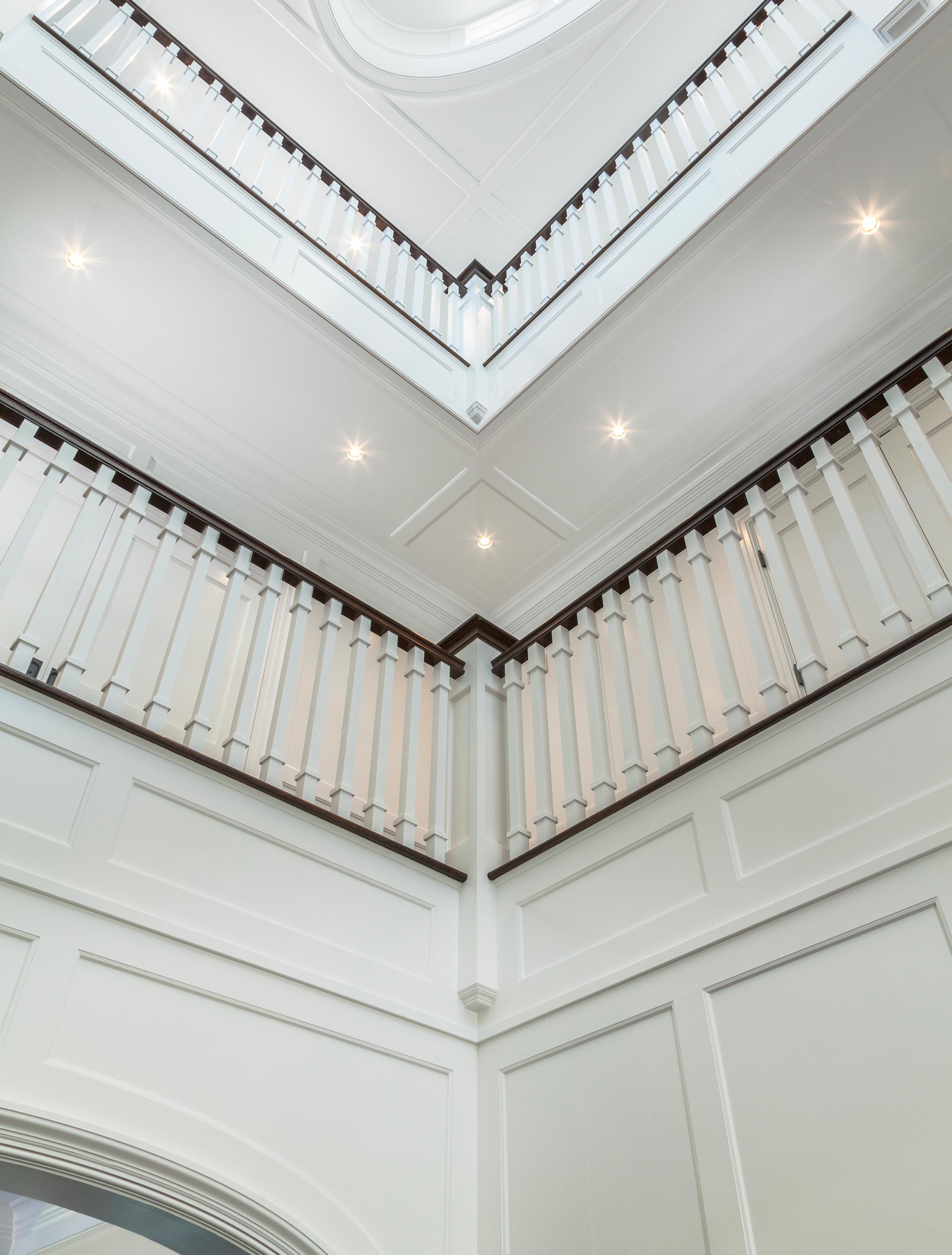 Two Floor Stairway Railings